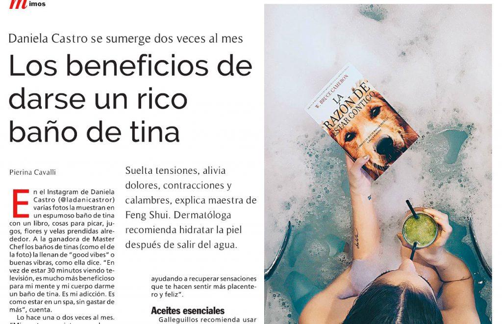 Sylvia Galleguillos Baños y aromaterapia en Las Ultimas Noticias